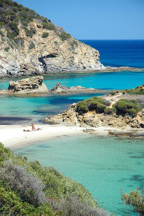 su cardulinu Beach Chia Sardinia Italy  I LOVED this beach!  And the water.......such beautiful shades of blue! Gorgeous!
