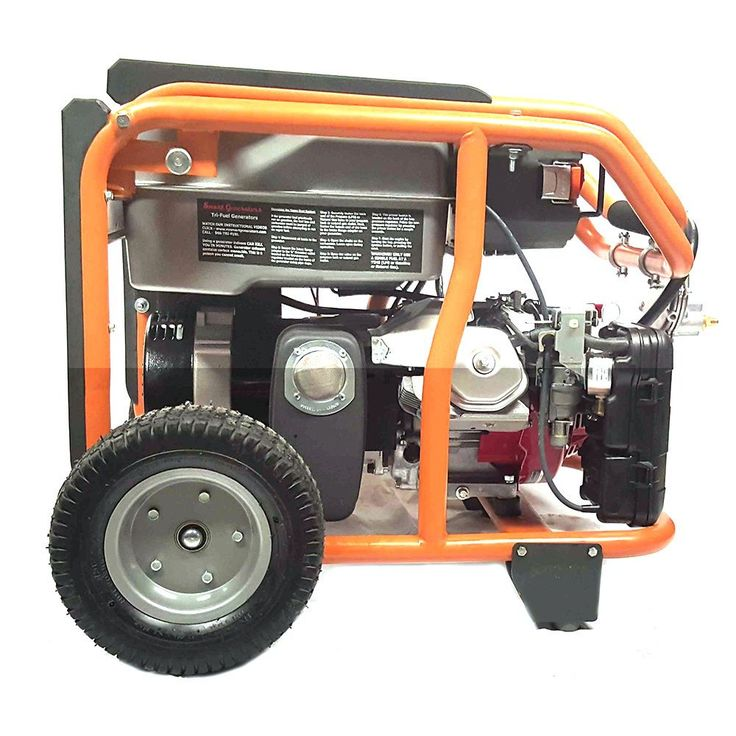 Smart Generators Carb-approved Portable 8400-watt Tri-fuel Generator Package (Smart Generators Commercial Tri Fuel Generator), Red