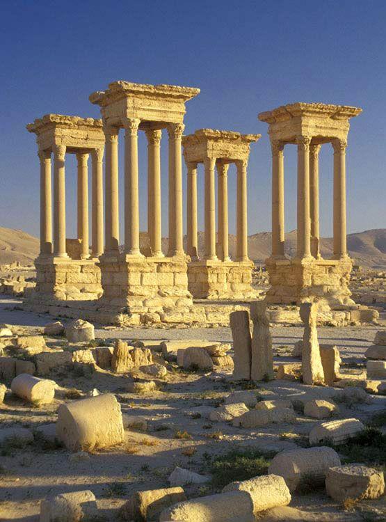 Tetrapylon, Palmyra, Syria