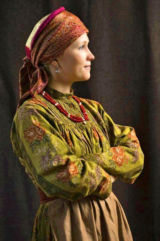 Русский народный костюм. Омская область, село Крестики