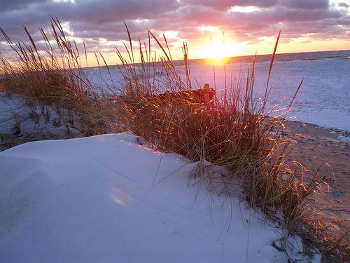 Winter on Lake Michigan.