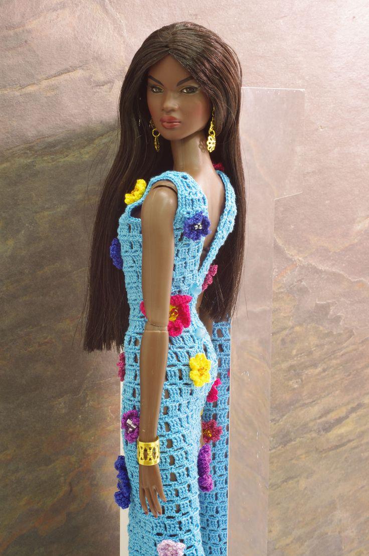 Crochet Doll Barbie Long Gowns Patterns