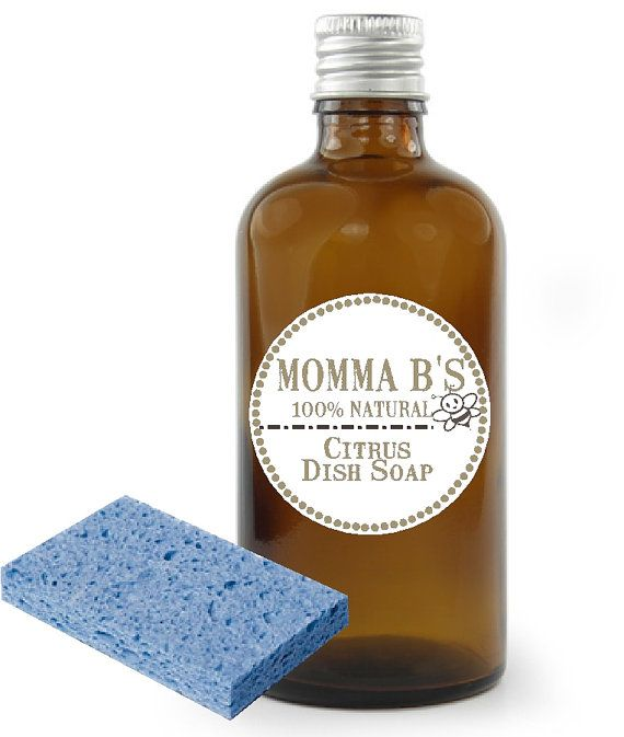 All Natural Dish Citrus Liquid Washing Detergent by MommaBNaturals, $6.50