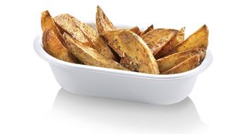 vaschetta monouso per patatine biodegradabile compostabile http://www.panesalamina.com/stoviglie-monouso-biodegradabili-compostabili-per-feste-e-sagre