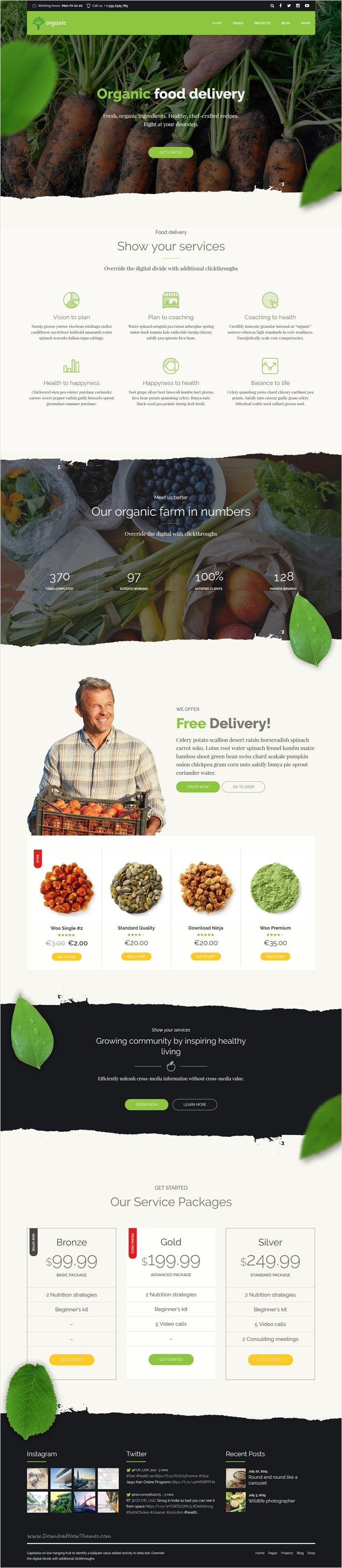 Organic Food is a awesome 9 in 1 #WordPress theme exclusively built for #food #delivery nutritionist, health coach, cooking school, delivery and farm websites download now➩ https://themeforest.net/item/organic-food-nutritionist-food-wordpress-theme/18029019?ref=Datasata