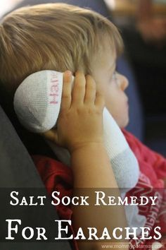 Salt Sock Natural Home Remedy for Earaches; The season of ear infections is almost upon us. Relieve otitis symptoms and inflammation naturally!