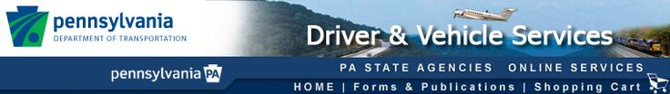 PennDOT Driver and Vehicle Services - Online Driver's Test Scheduling Login Page