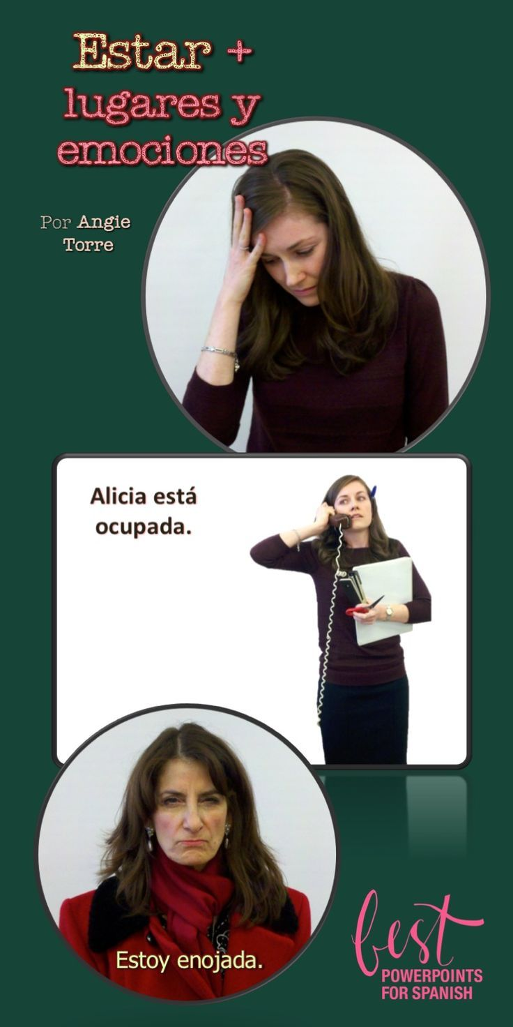 The best way to teach the Spanish Estar, emotions and places is with comprehensible input.  This PowerPoint gives the students visuals and language in context as they communicate about places and emotions.  See what else is included.