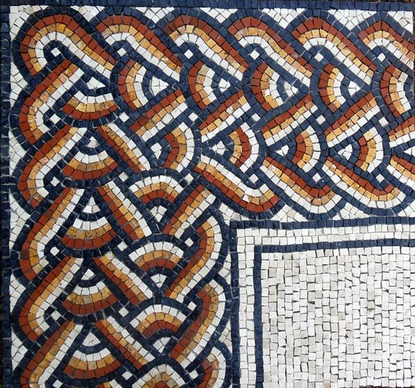 17 best images about roman geometric mosaics border for Perfekt mosaik bordure