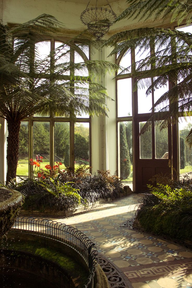 Take a look at the orangery at Lyme House - it's a room with a view.