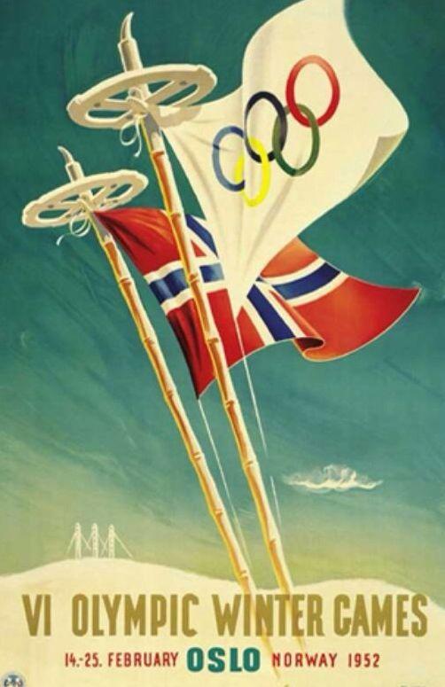Oslo 1952 Winter Olympics poster