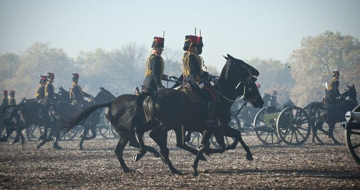 https://flic.kr/p/dJRJB2   Kings Troop Royal Horse Artillery in Hyde Park   In honour of His Royal Highness The Prince of Wales's birthday, The King's Troop Royal Horse Artillery (KTRHA), the saluting battery of Her Majesty's Household Division, fired a Gun Salute from Hyde Park at 12 midday on Wednesday 14th November.    The KTHRA will provided 6 gun teams, each consisting of a 13 pounder Quick Loading gun which saw action in World War 1 and are pulled by 6 gun team horses, they fired a 41…