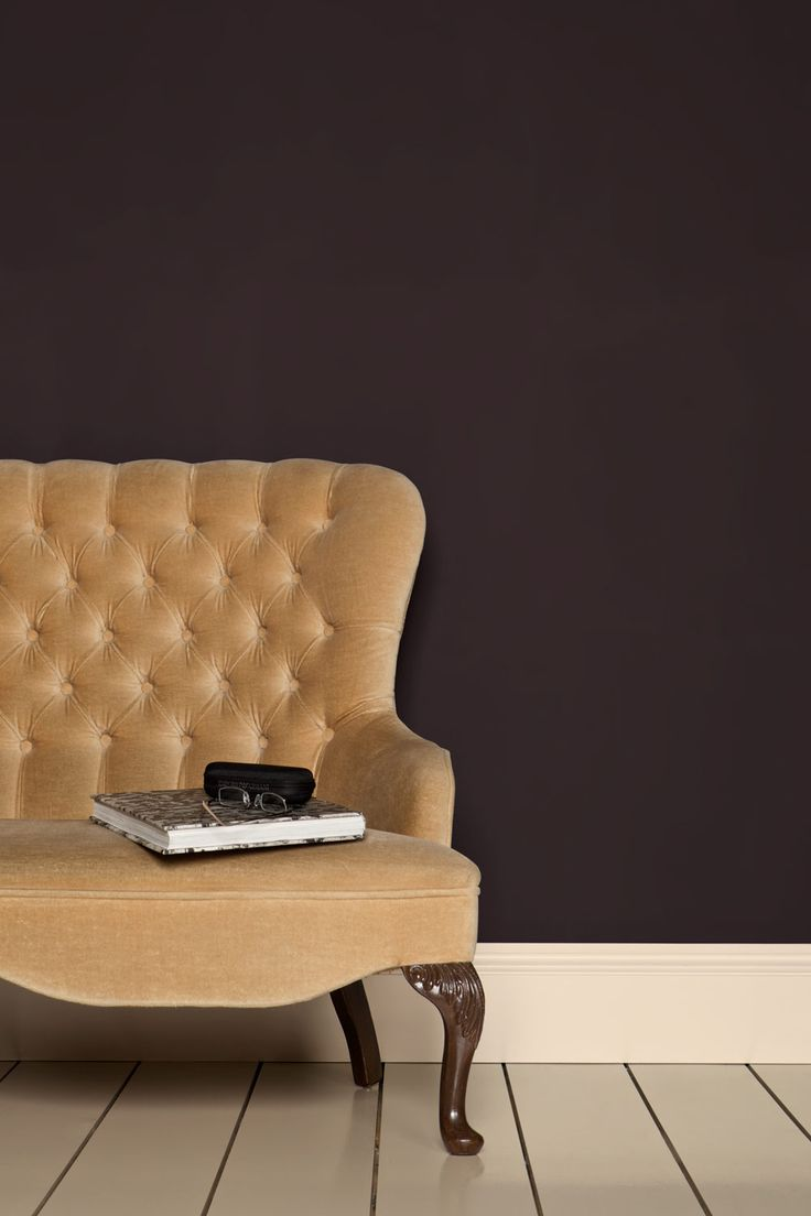 Farrow & Ball - Tanner's Brown. Try this with soft grey, cream and red. Boy's room?