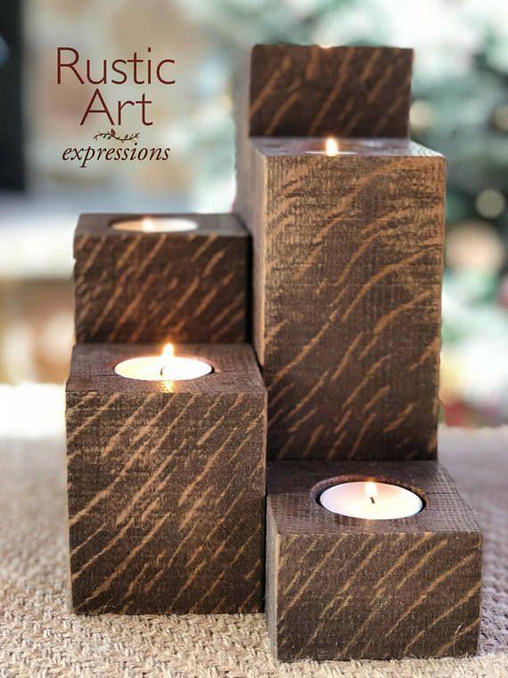 Kerzenhalter Holz Bild Von Bernhard Andexer Rustikale Kerzen