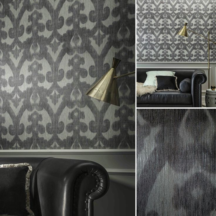 Pattern_OMBRE. The design is deeply and smoothly engraved in the texture of this textile wallcovering.