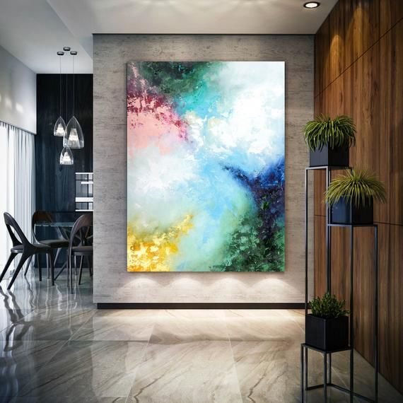 Large Contemporary Original Abstract Painting, Ext…