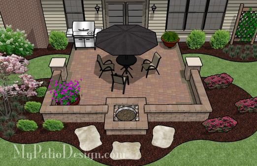 Like the low wall concept...instead of a privacy fence to delineate your space from a common area