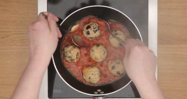 Polpette di cous cous con melanzane