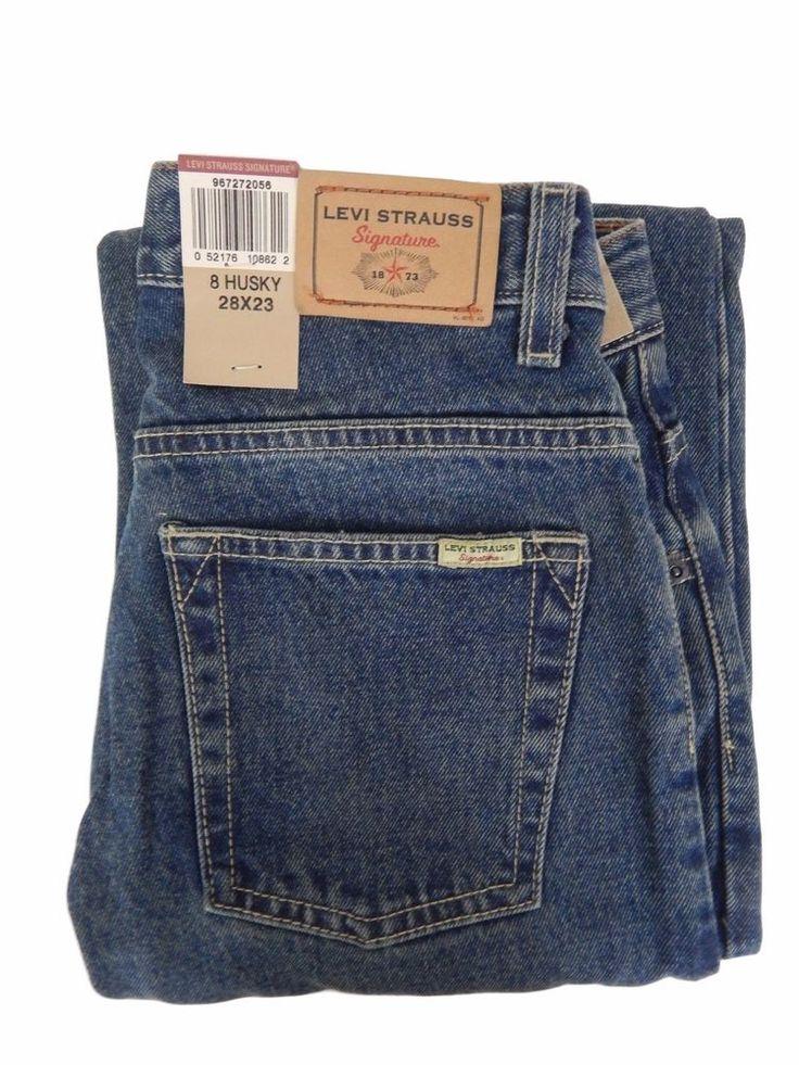 LEVI STRAUSS boys jeans Size 8 20 Husky 28 x 23 bootcut adjustable waist new  #Levis #BootCut #Everyday