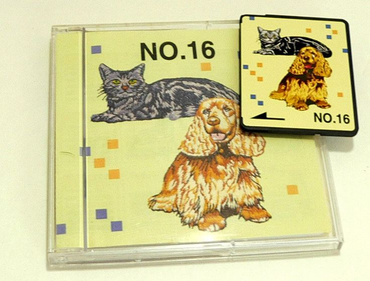 Memory Card No. 16 – Dogs & Cats - Brother - Embroidery Card by TheEclecticBazzar on Etsy