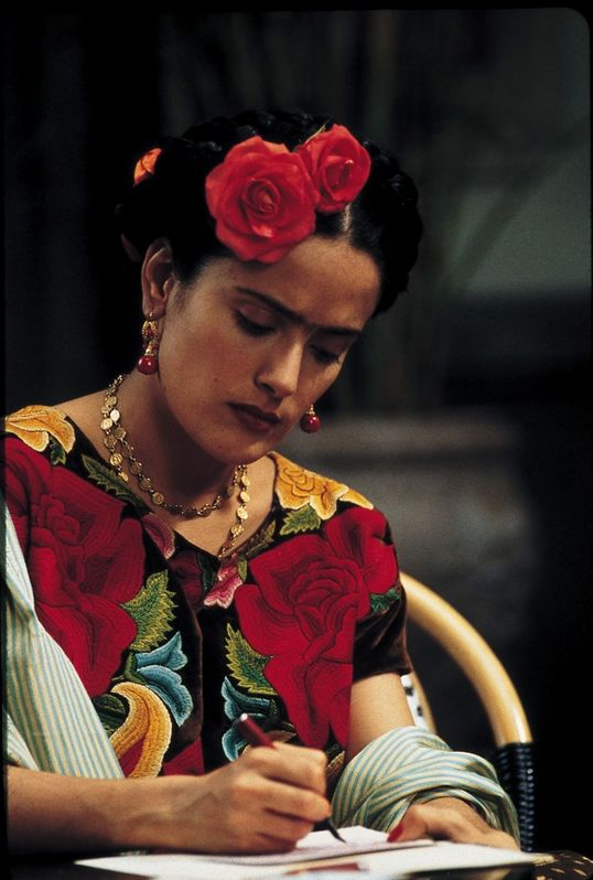Frida, hard at work,