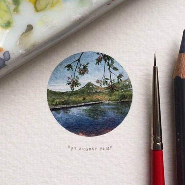 Best Miniaturmalerei Images On Pinterest Lorraine Miniature - Artist creates miniature paintings everyday entire year