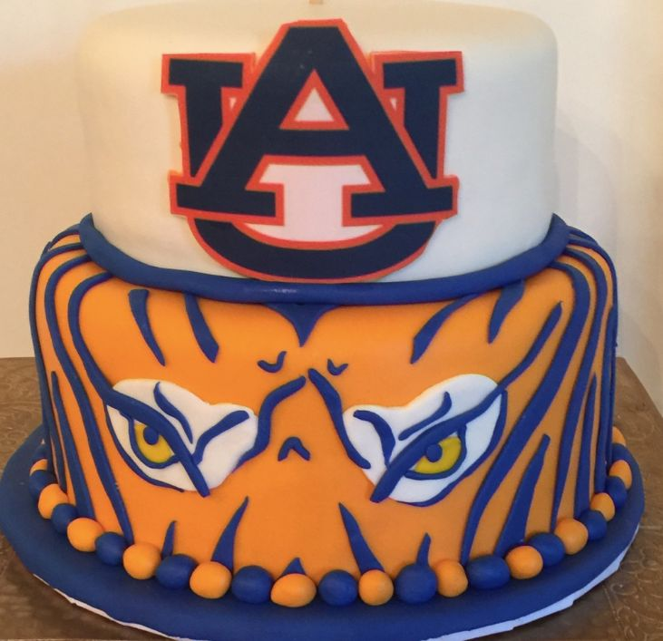 Best 25 Auburn Cake Ideas On Pinterest Denver Broncos