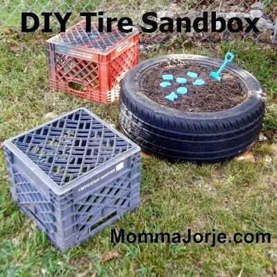 Momma Jorje: DIY Tire Sandbox