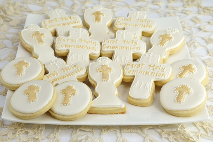 Hanielas: 1st Holy Communion Cookies with Video Tutorial
