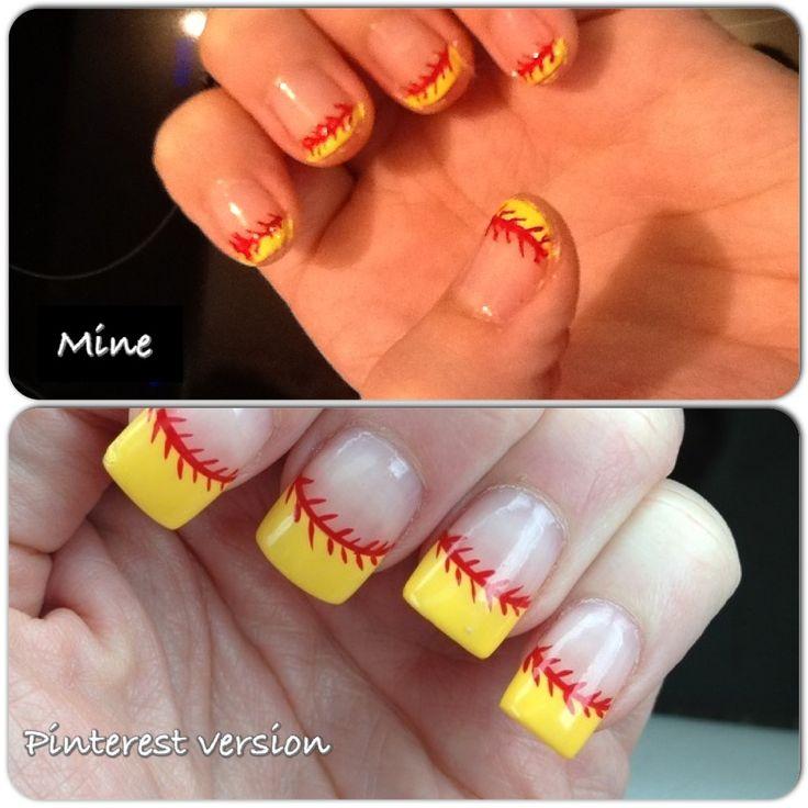 51 best Softball images on Pinterest | Softball mom, Baseball mom . - Fine Softball Acrylic Nails Crest - Nail Art Ideas - Morihati.com