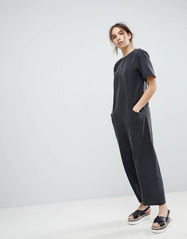 a119b079794 ASOS Minimal Jumpsuit with Dropped Crotch