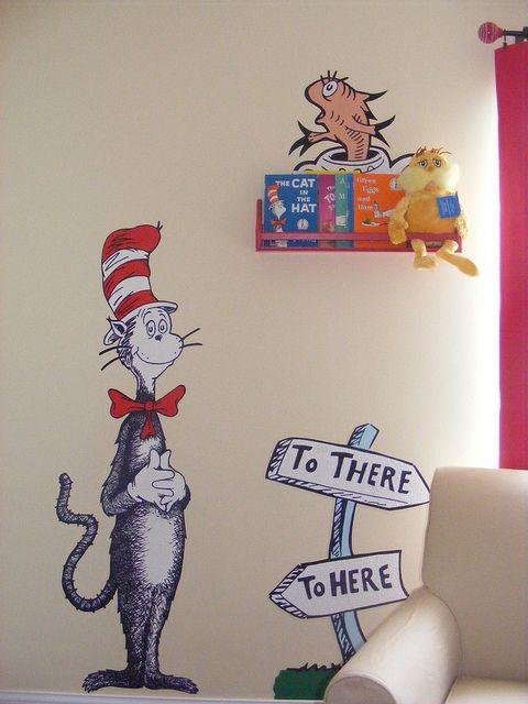 Dr Seuss Dr. Suess Theme Wallpaper Wall paper Art Sticker Mural Decal Handmade H