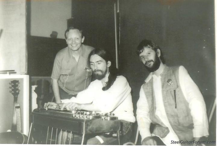 George Harrison on a pedal steel guitar. WOW! Love it!!!