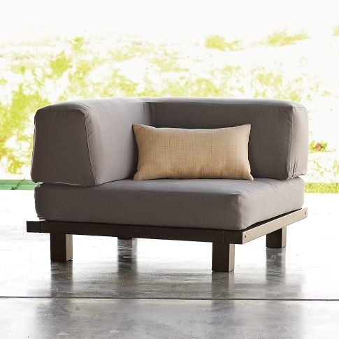 Tillary Outdoor Ottoman + Corner Back Cushion   Great Idea For Being Comfy  Outside!