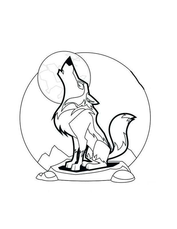 17 best images about wolves on pinterest oval faces for Grey wolf coloring pages