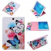 Watercolor Butterfly Cartoon Tab Case for Samsung Tab T560