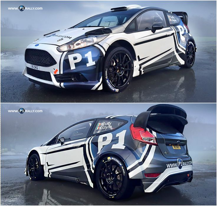 Design for Irish P1 Rally Rentals team and their Ford Fiesta R5