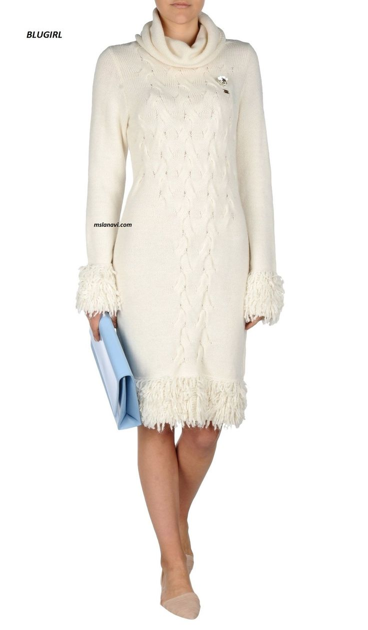 Вязаное платье спицами от BLUGIRL - СХЕМА http://mslanavi.com/2016/12/vyazanoe-plate-spicami-ot-blugirl/