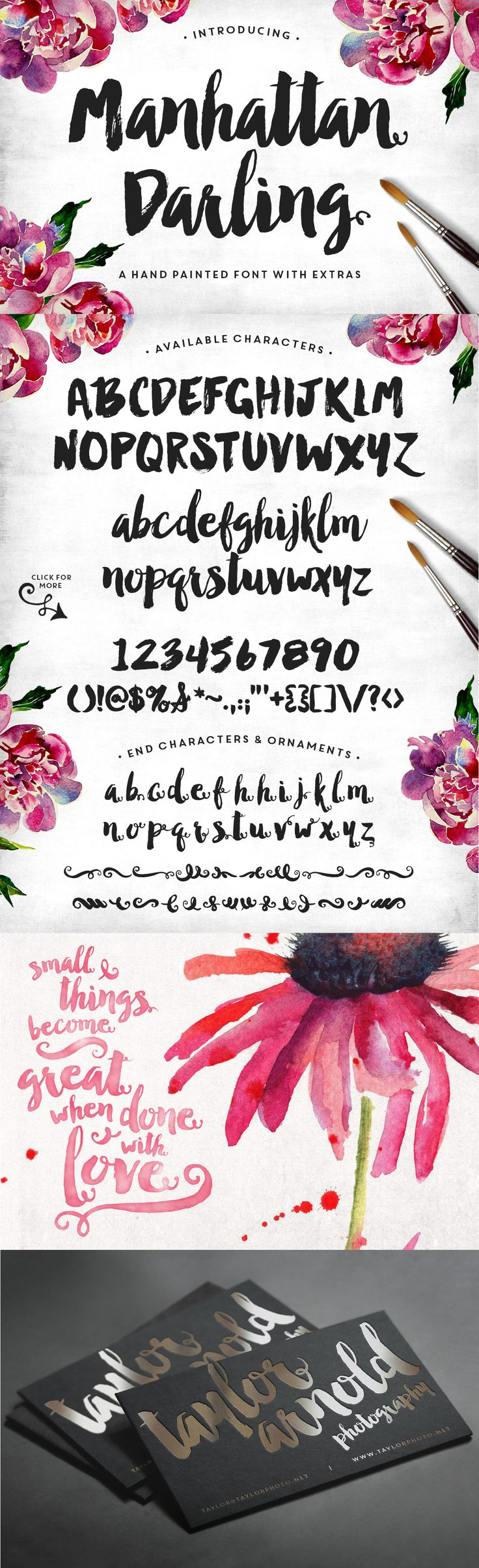 Manhattan Darling Typeface + BONUS by MakeMediaCo. on Creative Market