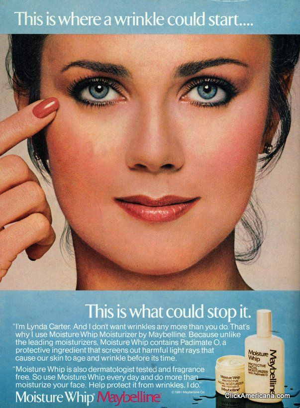 Lynda Carter for Maybelline (1981-1985)