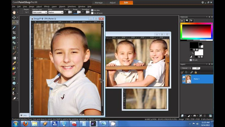 How to create a blended photo collage? Corel Pro