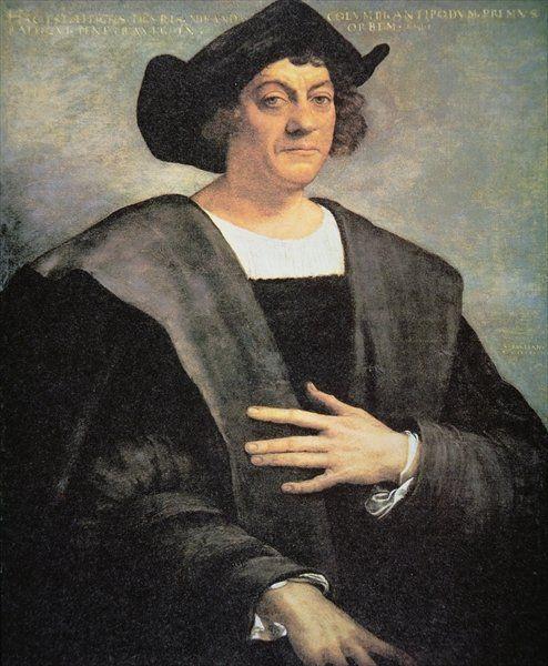 Dit is Christoffel Columbus hij ontdekte een nieuwe route naar India hij noemde de inwoners daar INDIANEN  hij wist alleen niet dat hij eigenlijk in Amerika was hij heeft geleefd van 1451  tot 1506