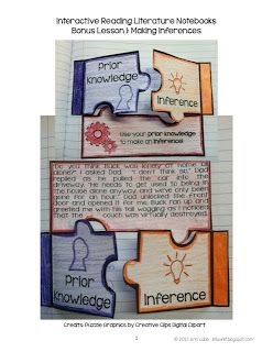 ideas on how to set up interactive notebooks with a freebie and links