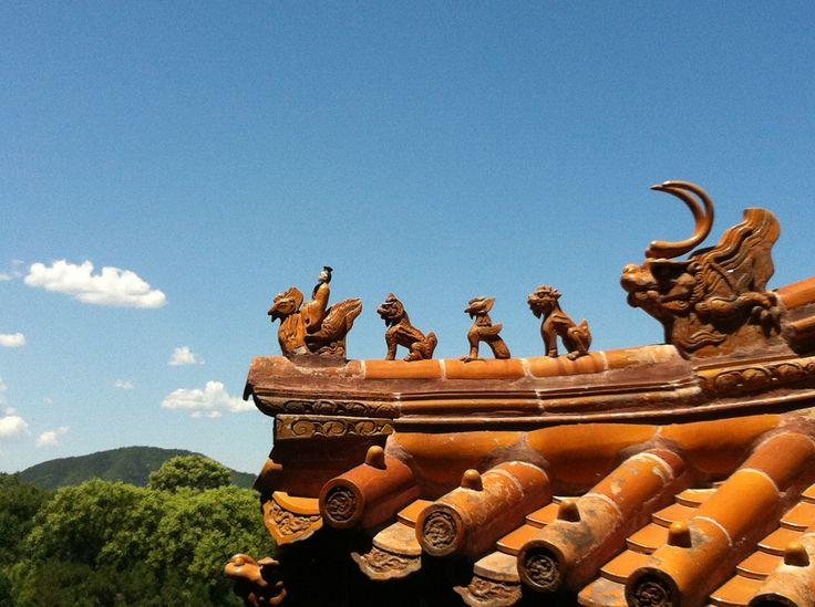 Tejado del palacio de verano. Pekín.