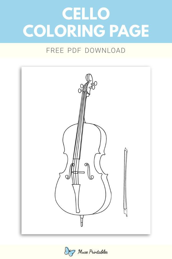 Free Printable Cello Coloring Page Download It At Https
