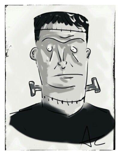 Digital sketch of Frankenstein's monster