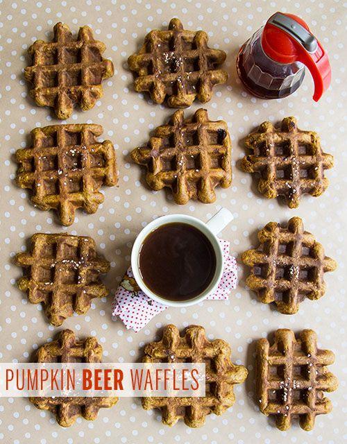 Pumpkin Beer Waffles // take a megabite