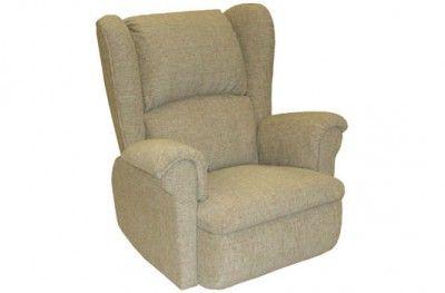 Ritz recliner brown fabric footrest swedish design møbelform www.helsetmobler.no