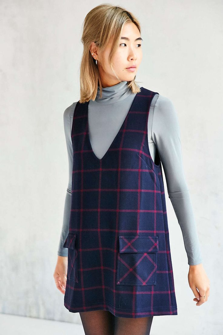 Cooperative Schoolgirl Layering Shift Dress - Urban Outfitters