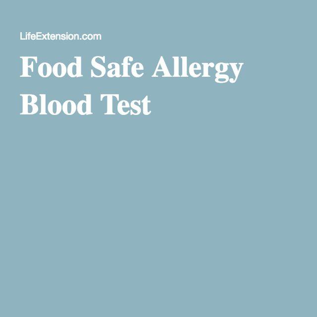 Food Safe Allergy Blood Test